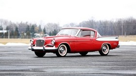studebaker, golden hawk, 1957, red, side view - wallpapers, picture