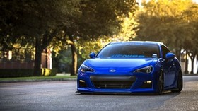 subaru, brz, blue, front, subaru, brz, sports car, coupe - wallpapers, picture
