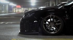 subaru, impreza, black, wheels, wheels - wallpapers, picture