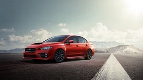 subaru impreza, wrx sti, 2015, red, track - wallpapers, picture