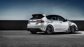 subaru, impreza, wrx, ​​sti, white, side view - wallpapers, picture