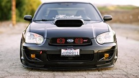 subaru, impreza, wrx, ​​sti, black, auto, tuning - wallpapers, picture