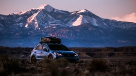 subaru outback, subaru, crossover, blue, ride, mountains, country - wallpapers, picture