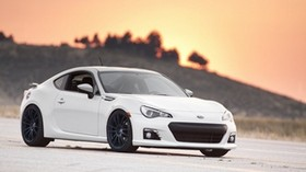 subaru, subaru, brz, white, side view - wallpapers, picture