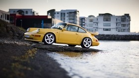 supercharged, carrera 4, yellow, porsche 911 - wallpapers, picture