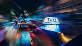 taxi, cars, motion, motion blur, long exposure - wallpapers, picture