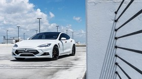 tesla model s, tesla, white, luxurious - wallpapers, picture