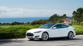tesla, model s, tesla model s, white - wallpapers, picture