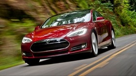 tesla, model s, tesla model s, red - wallpapers, picture