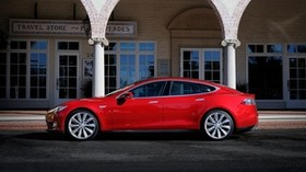 tesla, model s, tesla model s, red, stylish - wallpapers, picture