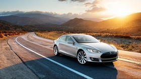 tesla, model s, tesla model s, gray - wallpapers, picture