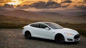 tesla, s, p85, white, side view - wallpapers, picture