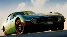 toyota, 2000gt, 1970, front view, green - wallpapers, picture