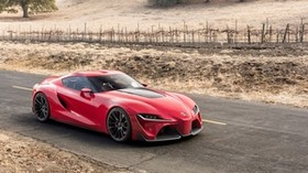 toyota, ft-1, red, side view - wallpapers, picture