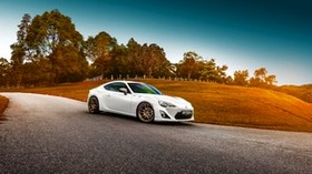 toyota, gt86, white, side view - wallpapers, picture