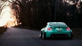 toyota, gt86, rear view, evening - wallpapers, picture