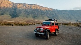 toyota land cruiser fj40, toyota, car, SUV, red, off-road - wallpapers, picture