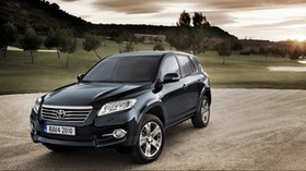 toyota rav4, black, nature, side view - wallpapers, picture
