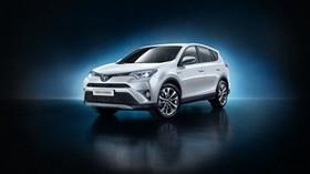 toyota, rav4, hybrid, us-spec, white, side view - wallpapers, picture