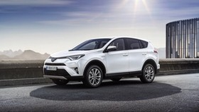 toyota, rav4, side view, white - wallpapers, picture