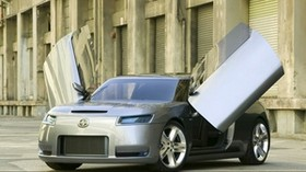 toyota, scion, side view, silver - wallpapers, picture