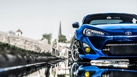 toyota, blue, front bumper, tuning - wallpapers, picture