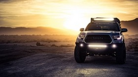 toyota tacoma, toyota, suv, headlight - wallpapers, picture