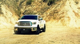 toyota, tundra, white, front view - wallpapers, picture