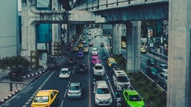 traffic, road, auto, city, bridge, thailand - wallpapers, picture