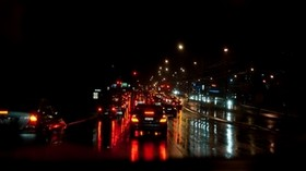 traffic, road, night city, traffic - wallpapers, picture