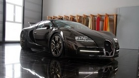 veyron, luxury car, black, tuning, bugatti - wallpapers, picture