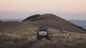 SUV, mountain, car, grass, off-road - wallpapers, picture