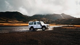 SUV, lake, trip, travel, landmannalaugar, iceland - wallpapers, picture