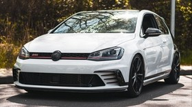 volkswagen, car, white, side view - wallpapers, picture
