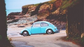 volkswagen beetle, volkswagen, side view - wallpapers, picture