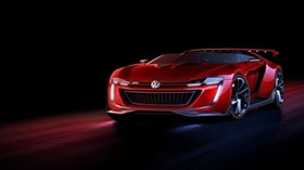 volkswagen, gti, roadster, red, front view - wallpapers, picture