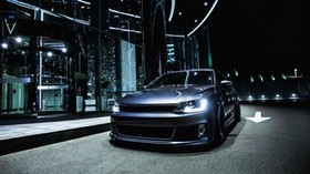 volkswagen jetta, silver, front view - wallpapers, picture