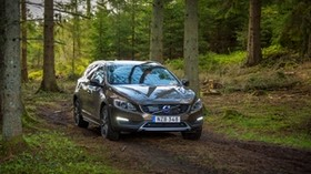 volvo, v60, forest, front view - wallpapers, picture