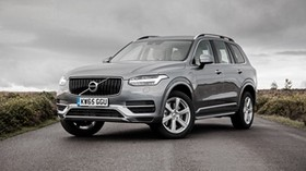 volvo, xc90, silver, side view - wallpapers, picture