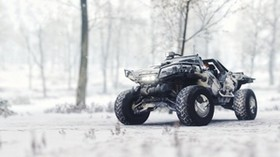 warthog car, snow, race - wallpapers, picture