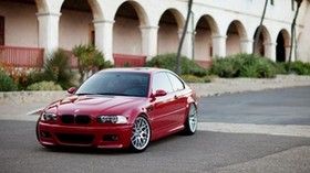 building, coupe, red, e46, bmw, m3, BMW - wallpapers, picture
